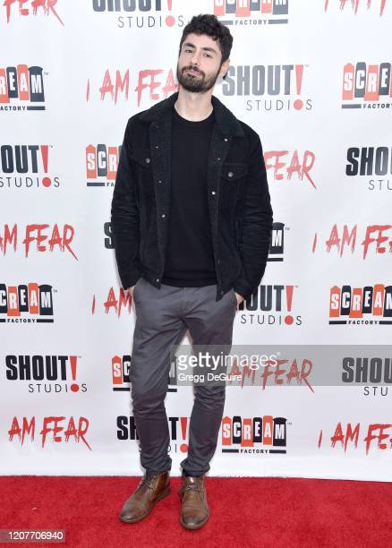 """Pierre Tsigaridis attends the Los Angeles Premiere of Roxwell Films """"I Am Fear"""" at Laemmle Monica Film Center on February 20 2020 in Santa Monica..."""