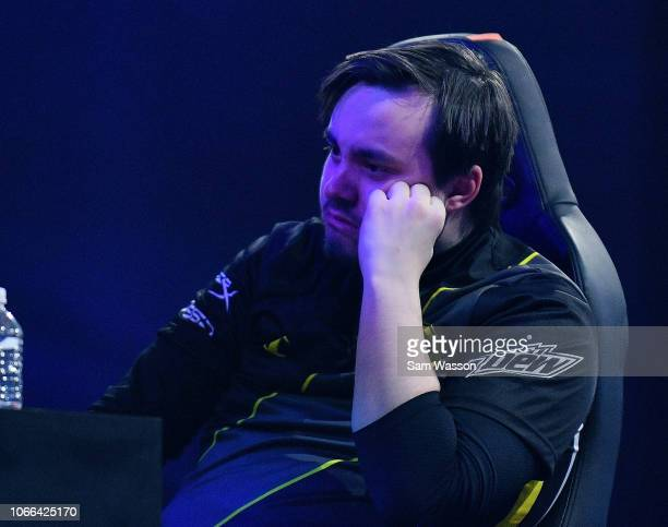 Pierre 'Turbopolsa' Silfver of team Dignitas reacts after his team lost the grand finals match of the Rocket League Championship Series World...