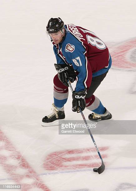 Pierre Turgeon of the Colorado Avalanche on October 27, 2005 at Pepsi Center in Denver, Colorado.