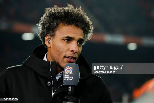 Pierre van Hooijdonk during the UEFA Nations league match between Holland v France at the Feyenoord Stadium on November 16 2018 in Rotterdam...