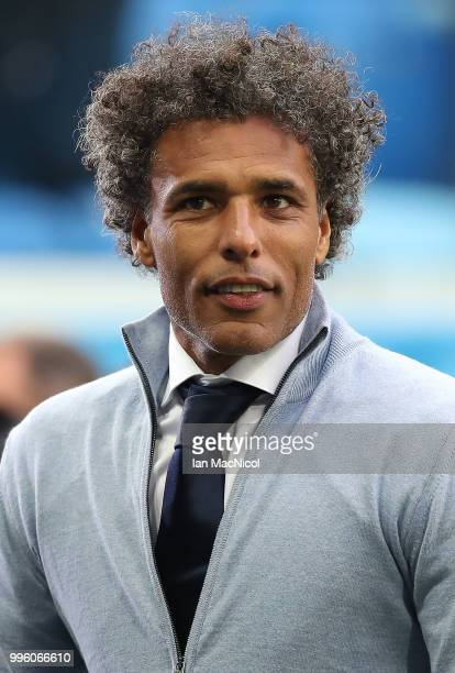 Pierre van Hooijdonk is seen during the 2018 FIFA World Cup Russia Semi Final match between Belgium and France at Saint Petersburg Stadium on July 10...