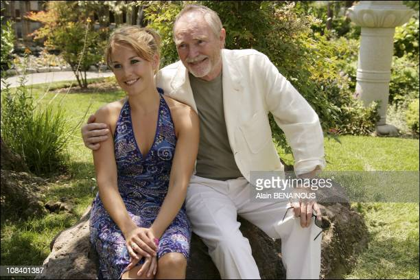"Pierre Vaneck and his small Daughter Aurelie playing in 'plus belle la vie"" in Monaco on June 26 2005"