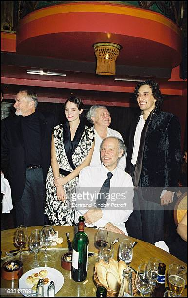 Pierre Vaneck Marie Gillain Roger Dumas Vincent Elbaz and John Malkovich party of the Hysteria preview at the Marigny theater