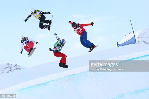 Pierre Vaultier of France competes Christian Ruud Myhre of Norway competes Jake Vedder of USA competes Alessandro Haemmerle of Austria competes...
