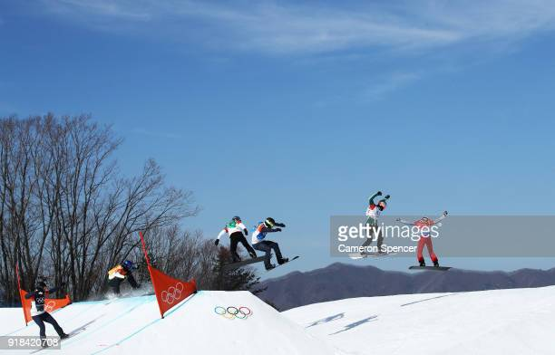 Pierre Vaultier of France Jarryd Hughes of Australia Regino Hernandez of Spain Nick Baumgartner of the United States Mick Dierdorff of the United...