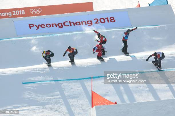 Pierre Vaultier of France takes 1st place Kevin Hill of Canada competes Kalle Koblet competes Markus Schairer of Austria competes Jarryd Hughes of...