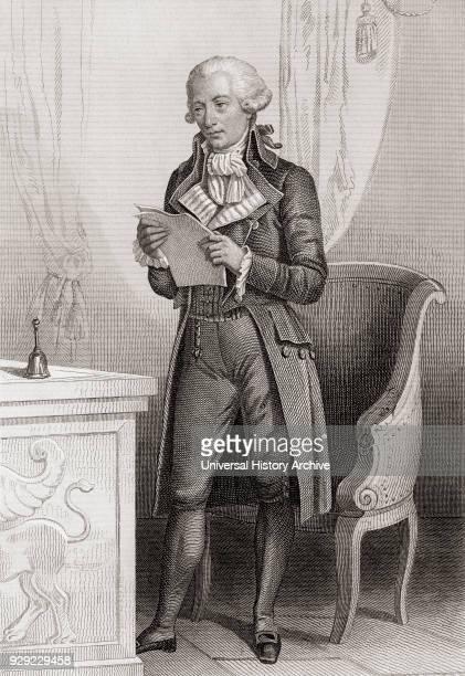 Pierre Victurnien Vergniaud, 1753 – 1793. French lawyer and statesman during the Revolution. From Galerie Historique de la Révolution Française,...