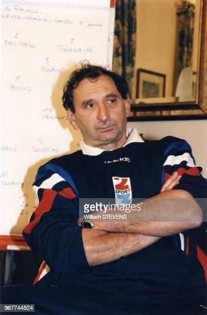 Pierre Villepreux entraîneur du Quinze de France lors du Tournoi des cinq nations 15 janvier 1997 Dublin Irlande15 janvier 1997 Dublin Irlande