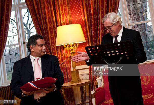 Pierre Vimont speaks during the presentation of the Officier Award to Chesley Sullenberger at the French Ambassador's Residence on December 17 2010...