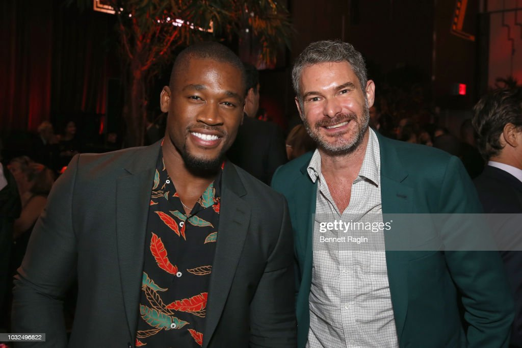 Pierre Vuala and Bronson van Wyck attend the after party for