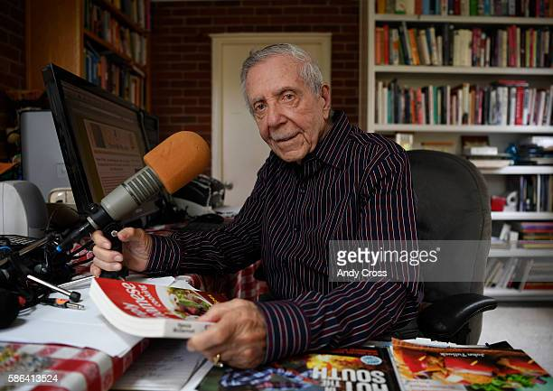 Pierre Wolfe longest continuous radio broadcaster in the United States broadcasting for over 58years photographed in his studio at home August 05...