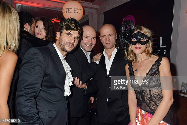 Pierre Woodman HPG and guests attend the Marc Dorcel 35th Anniversary Masked Ball at the Chalet des Iles on October 10 2014 in Paris France