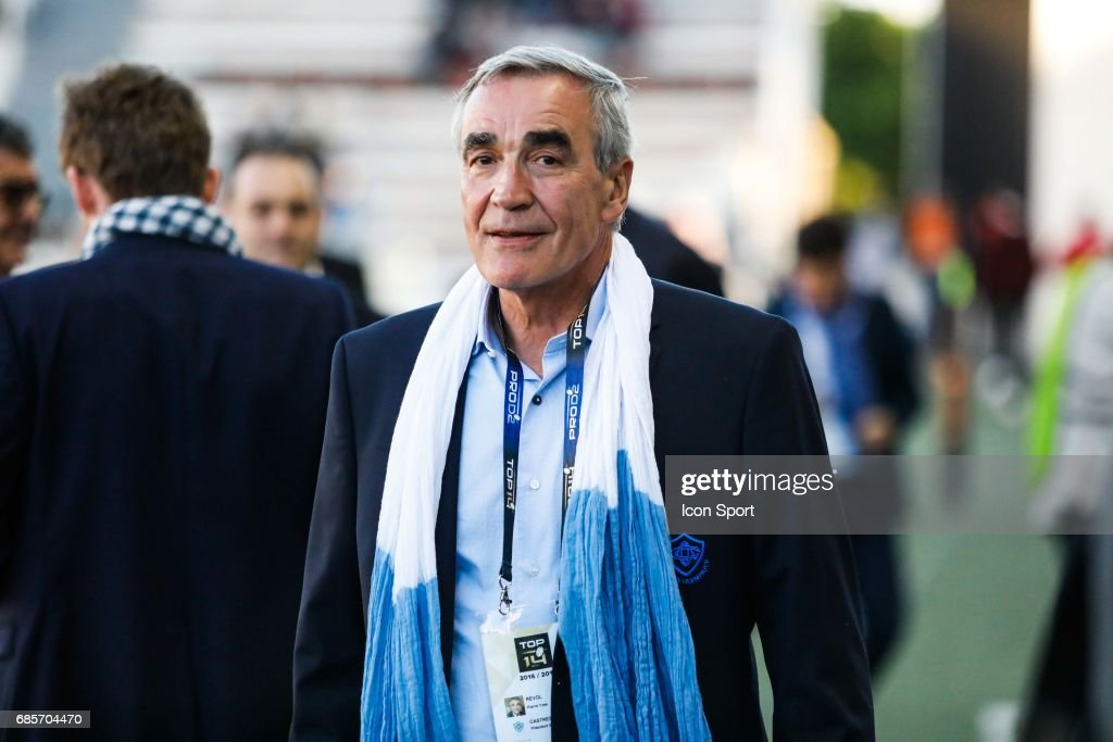 Pierre Yves Revo President of Castres during the Top 14 match between RC Toulon and Castres Olympiques on May 19, 2017 in Toulon, France.