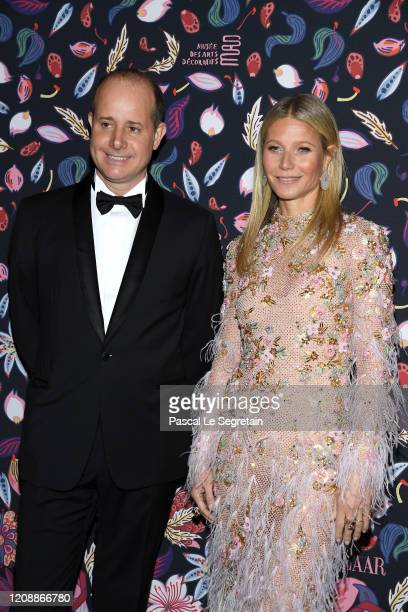 PierreAlexis Dumas and Gwyneth Paltrow attend the Harper's Bazaar Exhibition as part of the Paris Fashion Week Womenswear Fall/Winter 2020/2021 At...