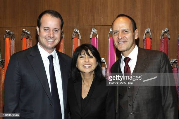 Pierre-Alexis Dumas, Veronique Nichanian and Robert Chavez attend Opening of the First HERMES Men's Store in New York at Hermes Men's Store on...