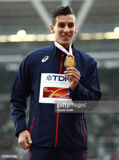 Pierre-Ambroise Bosse of France poses with his gold medal for the Men's 800 metres during day six of the 16th IAAF World Athletics Championships...