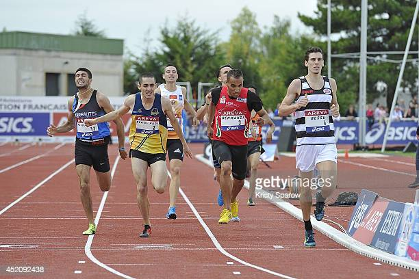 Pierre-Ambroise Bosse qualifies for the 800 Meter during the Championnats de France d'Athletisme Elite on July 12, 2014 in Reims, France.