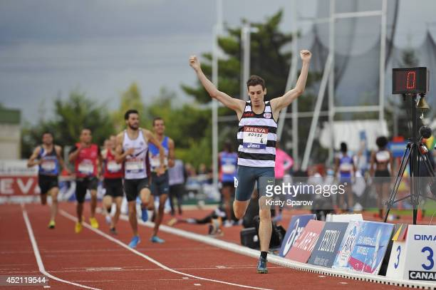 Pierre-Ambroise Bosse wins first place in the 800 Meter during the Championnats de France d'Athletisme Elite on July 13, 2014 in Reims, France.