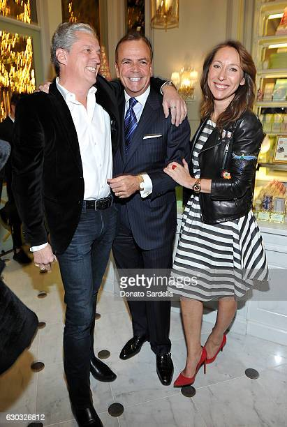 PierreAntoine Raberin Caruso founder and CEO Rick Caruso and Ladurée copresident Elisabeth Holder Raberin attend the opening of Laduree at The Grove...