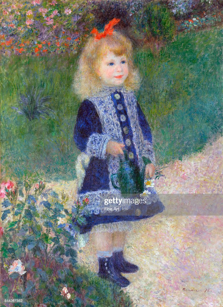 A Girl with a Watering Can by Pierre-Auguste Renoir : News Photo