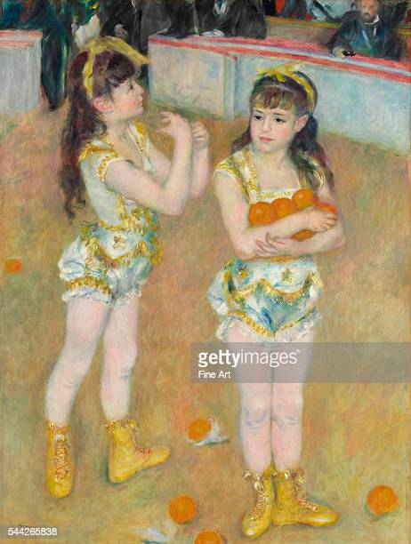 PierreAuguste Renoir Acrobats at the Cirque Fernando oil on canvas 51 3/4 x 39 1/8 in Art Institute of Chicago