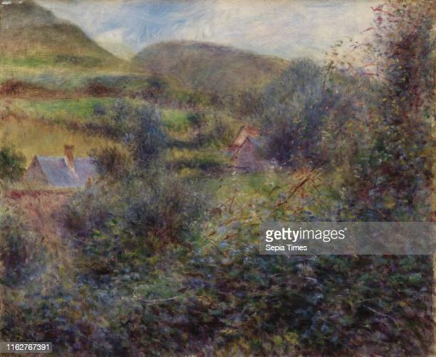 Environs of Berneval PierreAuguste Renoir Oil on canvas This painting represents the rolling countryside behind the cliffs at Pourville a small...