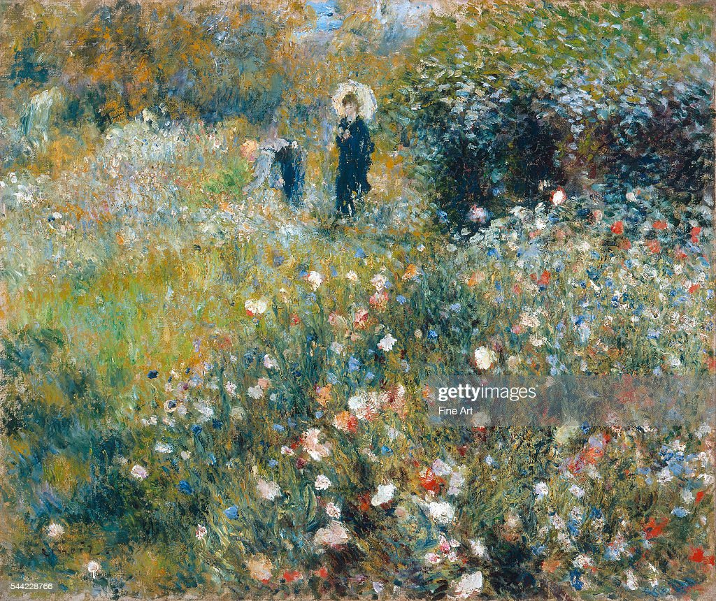Woman with a Parasol in a Garden by Pierre-Auguste Renoir : News Photo