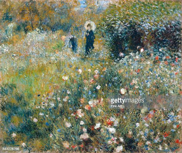 PierreAuguste Renoir Femme avec parasol dans un jardin 1875 Oil on canvas 65 x 545 cm ThyssenBornemisza Museum Madrid Spain