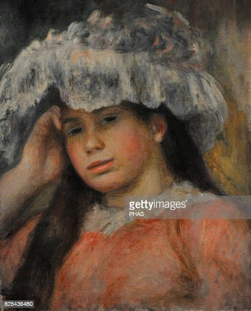 PierreAuguste Renoir French painter Impressionist style Young Girl in a Hat ca 1892 Oil on canvas The State Hermitage Museum Saint Petersburg Russia