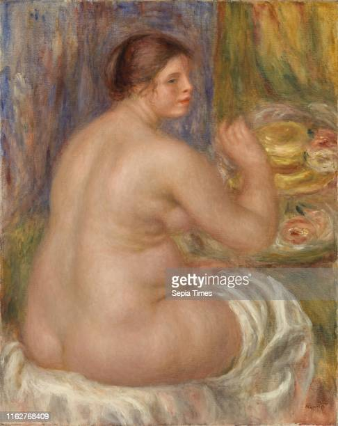 Nude from the Back PierreAuguste Renoir Oil on canvas Overall 32 1/4 x 25 7/8 in