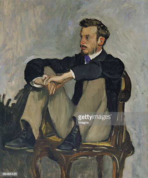 PierreAuguste Renoir painter Oil on canvas Musee d'Orsay Paris France [Portrait des Malers PierreAuguste Renoir oel auf Leinwand Um 1867 Musee...