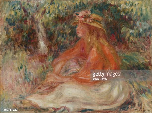 Seated Woman PierreAuguste Renoir circa 1910 Oil on canvas Overall 12 11/16 x 16 15/16 in