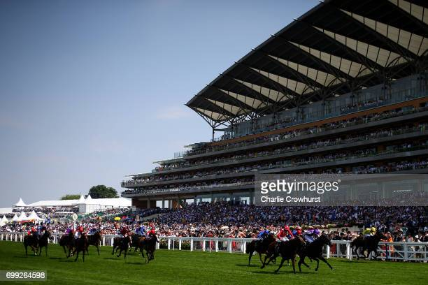 PierreCharles Boudot rides Le Brivido to win The Jersey Stakes during day 2 of Royal Ascot at Ascot Racecourse on June 21 2017 in Ascot England