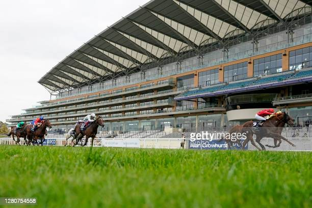 Pierre-Charles Boudot riding The Revenant win The Queen Elizabeth II Stakes during the Qipco British Champions Day at Ascot Racecourse on October 17,...