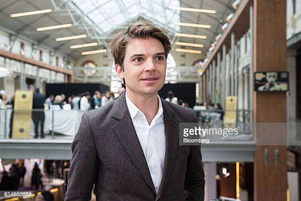 Pierre-Dimitri Gore-Coty, head of EMEA operations at Uber Technologies Inc., poses for a photograph following a Bloomberg Television interview at the...