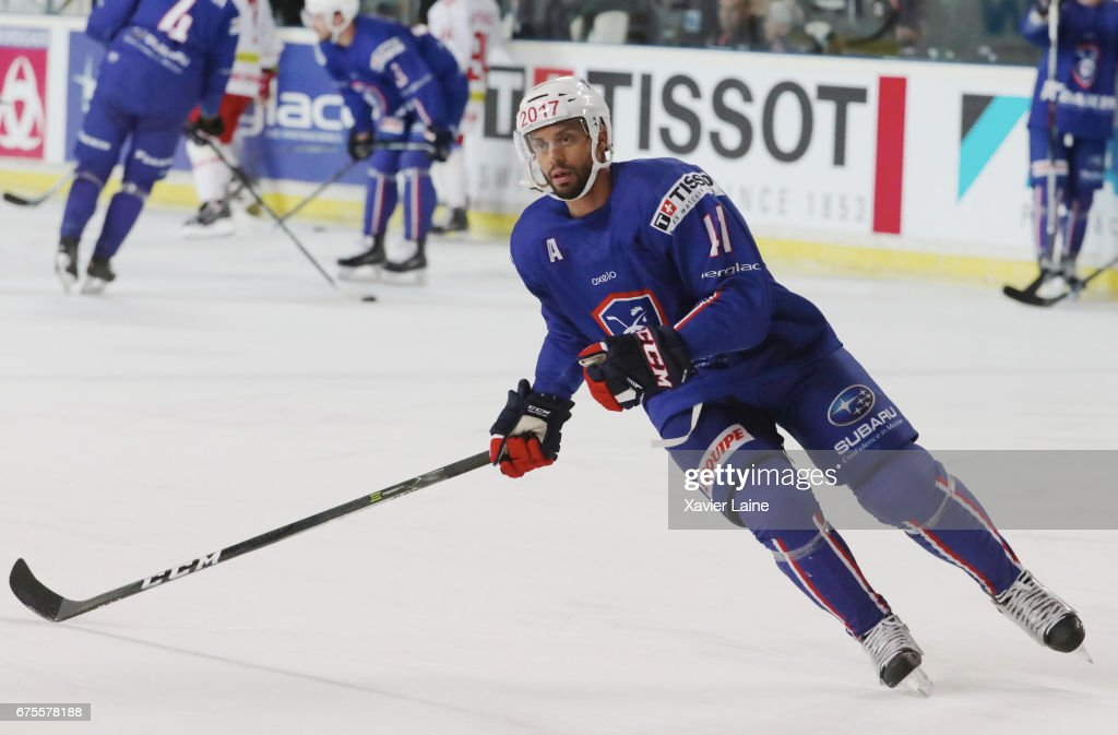 Pierre-Edouard Bellemare #41 of France in action during the Ice Hockey Friendly match between France and Belarus at Patinoire Meriadeck on May 1, 2017 in Bordeaux, France.
