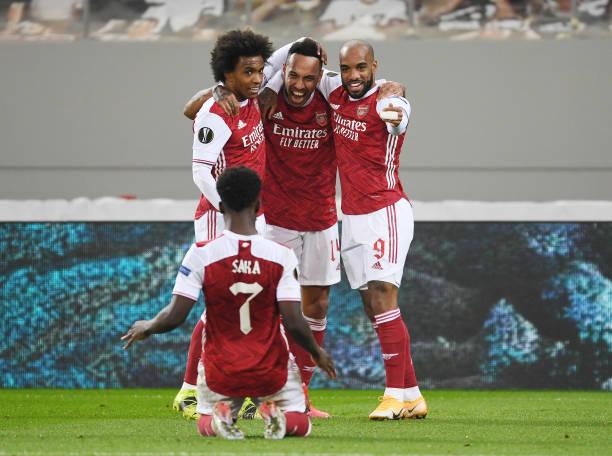 GRC: Arsenal FC v SL Benfica  - UEFA Europa League Round Of 32 Leg Two
