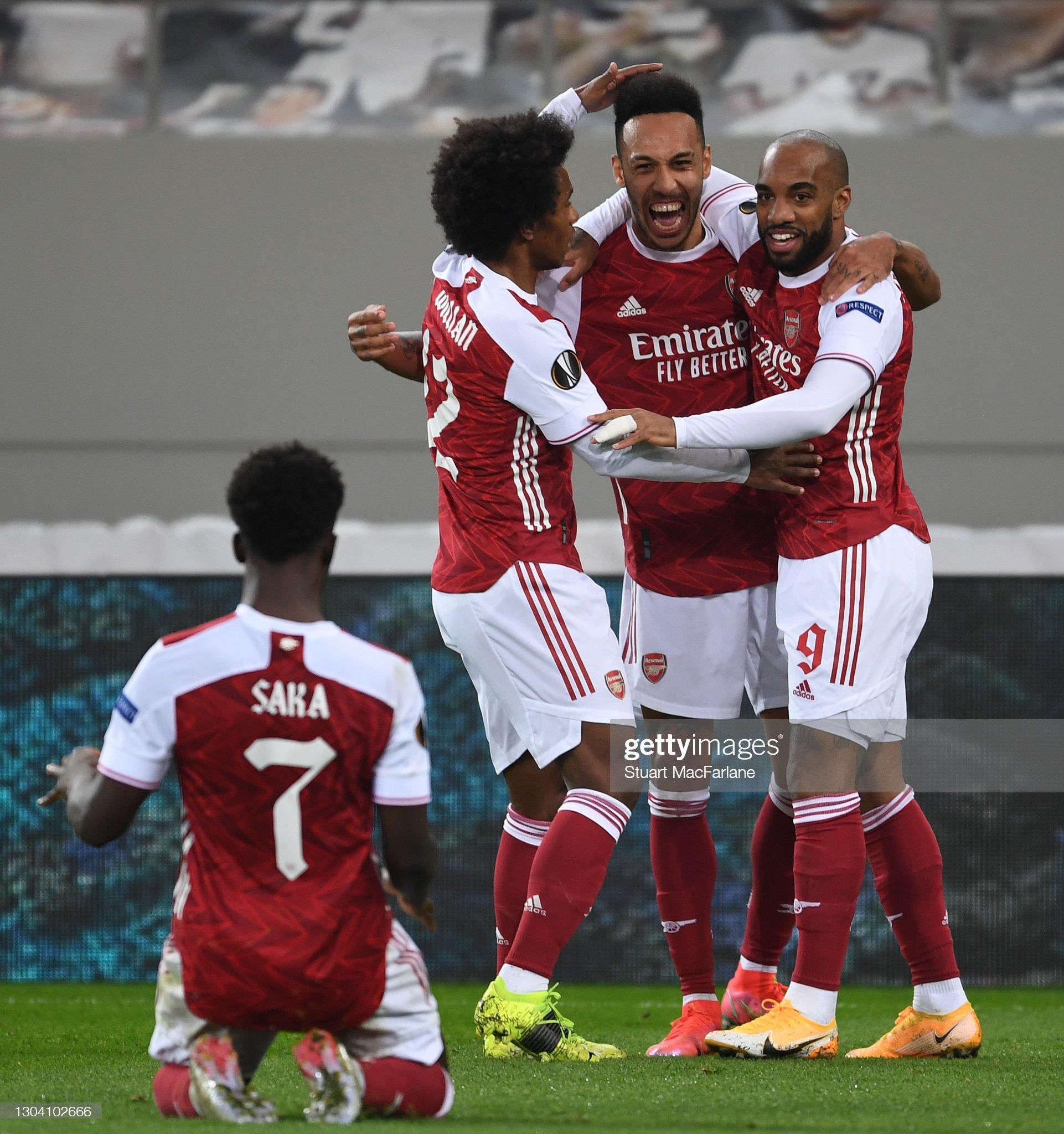 Arsenal FC v SL Benfica  - UEFA Europa League Round Of 32 Leg Two : News Photo