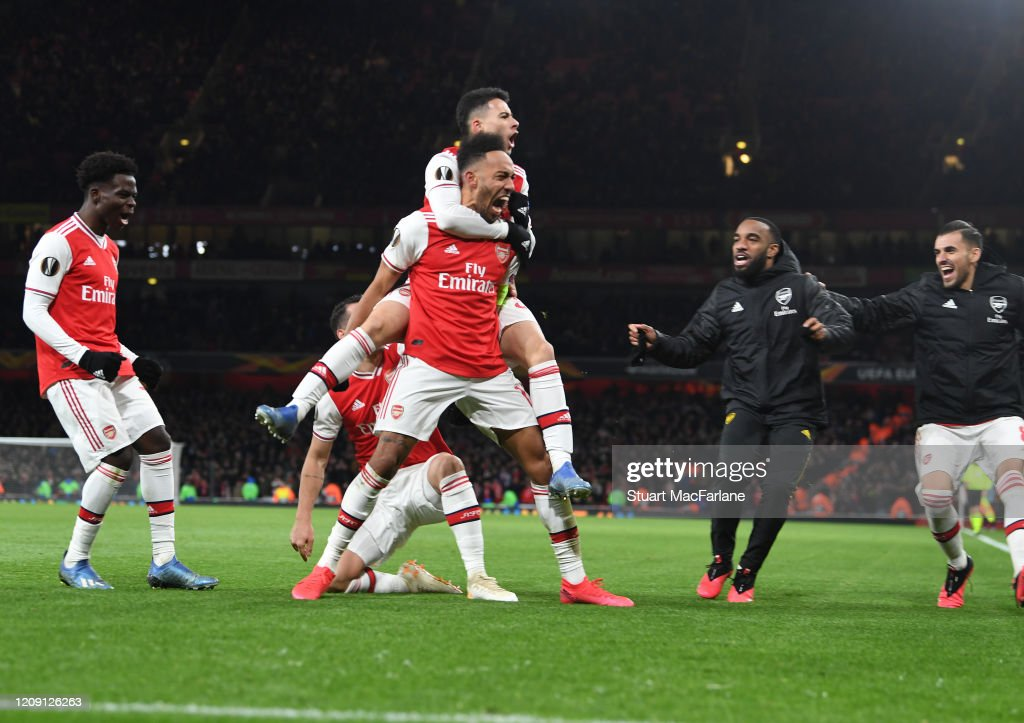 Arsenal FC v Olympiacos FC - UEFA Europa League Round of 32: Second Leg : News Photo