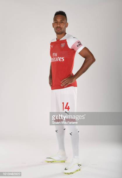 PierreEmerick Aubameyang of Arsenal at London Colney on August 8 2018 in St Albans England