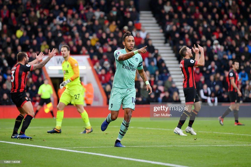 AFC Bournemouth v Arsenal FC - Premier League : News Photo