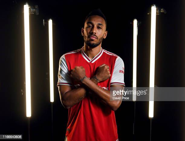 PierreEmerick Aubameyang of Arsenal during the Arsenal Media Day at London Colney on August 07 2019 in St Albans England