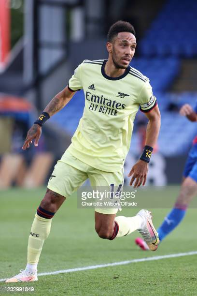 Pierre-Emerick Aubameyang of Arsenal during the Premier League match between Crystal Palace and Arsenal at Selhurst Park on May 19, 2021 in London,...