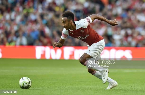 PierreEmerick Aubameyang of Arsenal during the Preseason friendly International Champions Cup game between Arsenal and Chelsea at Aviva stadium on...