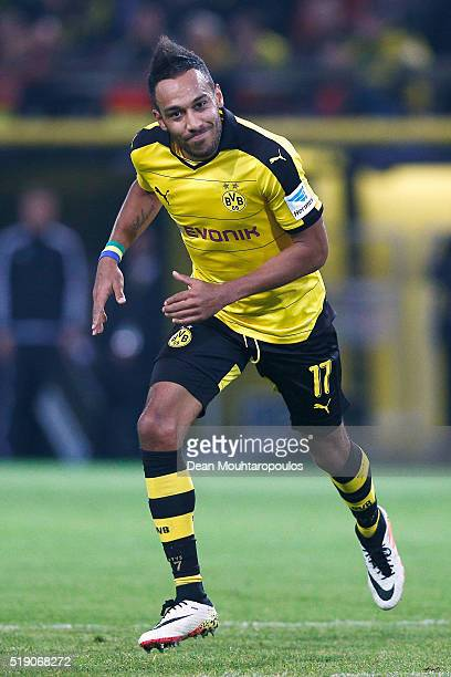 PierreEmerick Aubameyang of Borussia Dortmund in action during the Bundesliga match between Borussia Dortmund and Werder Bremen at Signal Iduna Park...