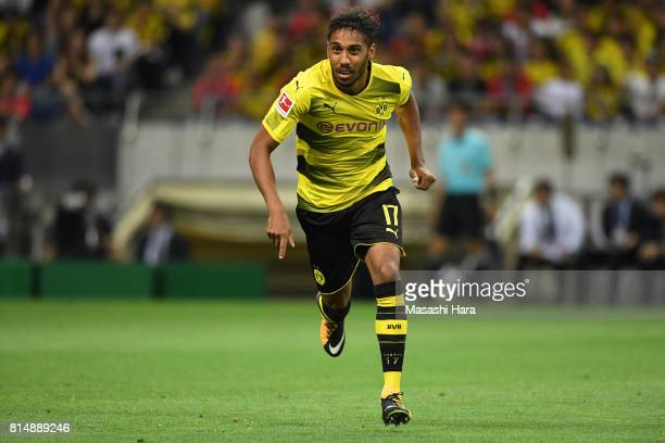 PierreEmerick Aubameyang of Borussia Dortmund looks on during the preseason friendly match between Urawa Red Diamonds and Borussia Dortmund at...