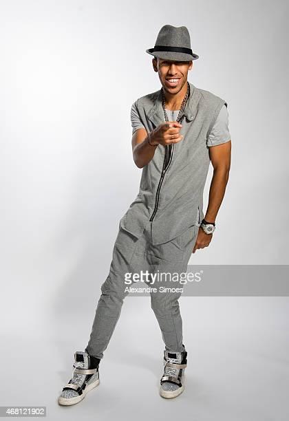PierreEmerick Aubameyang of Borussia Dortmund poses during a portrait shoot on February 26 2015 in Dortmund Germany