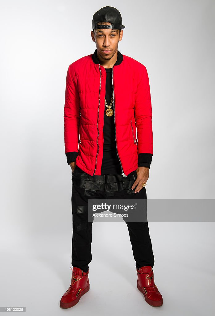 Pierre-Emerick Aubameyang of Borussia Dortmund poses during a portrait shoot on February 26, 2015 in Dortmund, Germany.