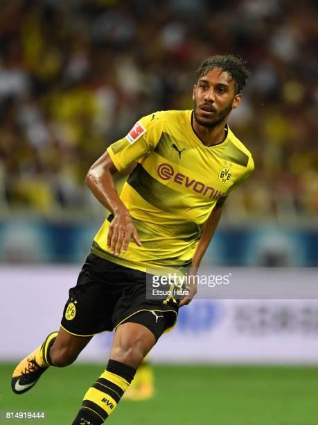 PierreEmerick Aubameyang of Burussia Dortmund in action during the preseason friendly match between Urawa Red Diamonds and Borussia Dortmund at...