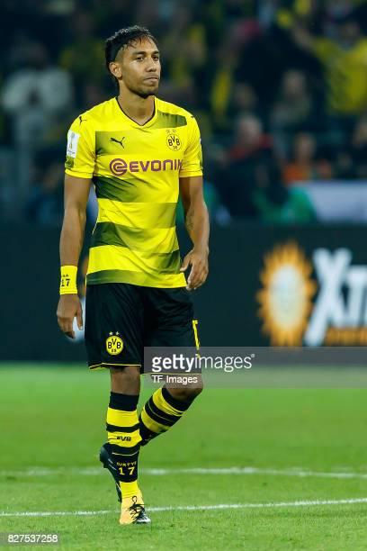 PierreEmerick Aubameyang of Dortmund looks on during the DFL Supercup 2017 match between Borussia Dortmund and Bayern Muenchen at Signal Iduna Park...